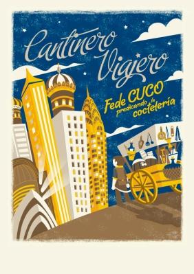 Poster cantinero noche final