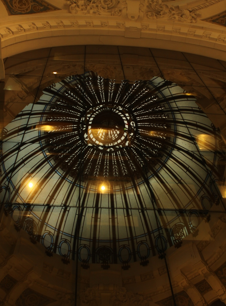 Reflexion of Art Deco Dome in the Galeria Güemes by Chance Miller